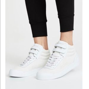 NEW Rag & Bone White Suede & Leather High tops